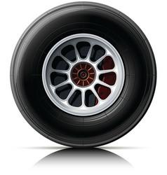 sports car wheel vector image