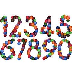 sweet numbers vector image vector image
