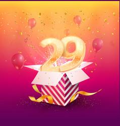 29 th years anniversary design element vector