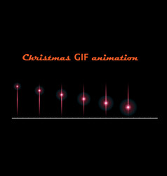 A set of create christmas animations moving flash vector