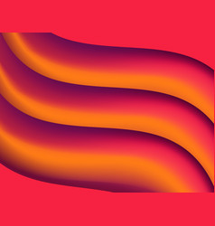 abstract background with orange gradient waves vector image