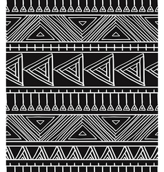 Abstract geometric seamless pattern Aztec style vector image