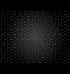 Abstract striped hexagon pattern on dark vector