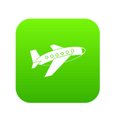 airplane icon digital green vector image