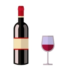 Alcohol drink wine bottle vector image