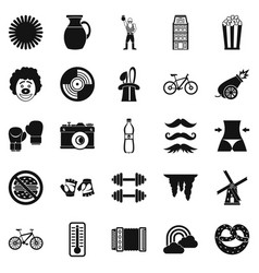 Appearance icons set simple style vector