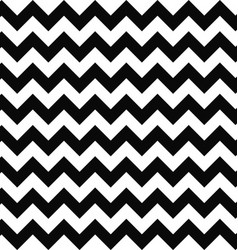 Black and white seamless chevron pattern vector image