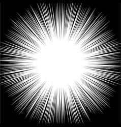Burst abstract pattern black white vector