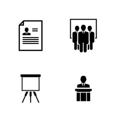 business seminar simple related icons vector image