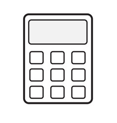 calculator icon on white background calculator vector image