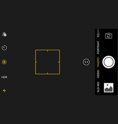 Camera screen phone mobile interface app vector