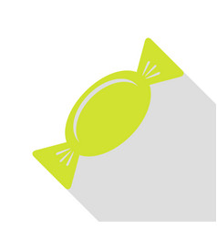 candy sign pear icon with flat style vector image