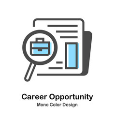 Career opportunity mono color vector