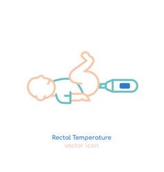 Child rectal temperature vector