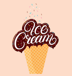 Chocolate ice cream vector