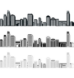 cities vector image