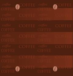 coffee wallpaper brown coffee vector image