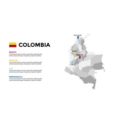 colombia map infographic template slide vector image