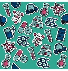 Colored Chemical industry pattern vector