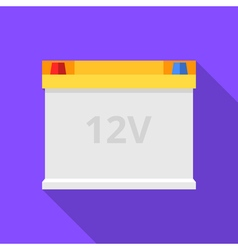 Colorful car battery icon in modern flat style vector