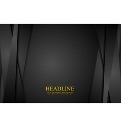 Corporate black abstract background with stripes vector