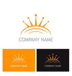 crown abstract company logo vector image