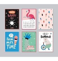 Cute Summer Poster Set vector