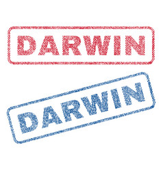 darwin textile stamps vector image