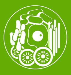 dish of korean food icon green vector image