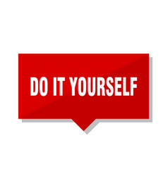 do it yourself red tag vector image