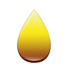 Drop oil gold icon vector