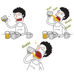 Drunken men vector