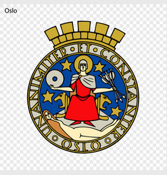 emblem of city of norway vector image