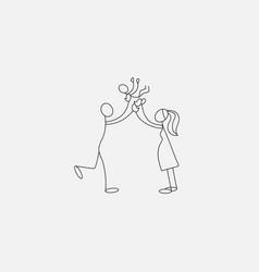 Family icon stick figure vector