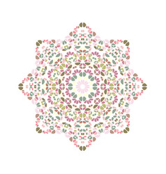 Floral star polygon - geometrical colorful vector
