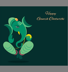 Ganesh chaturthi festival poster design vector