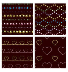 geometric patterns and hearts vector image
