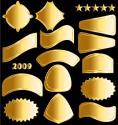 gold medals and badges vector image