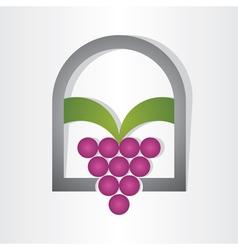 grape on window design vector image