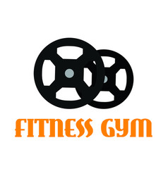 gym fitness icon vector image