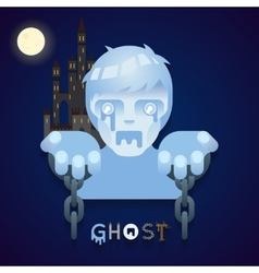 Halloween party ghost role character bust icons vector