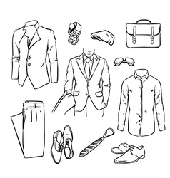 Handsome business man suit vector