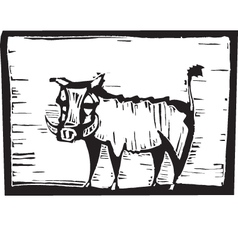 Hog Print vector