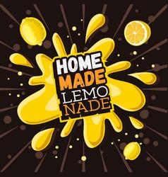Home made lemonade typographic design vector