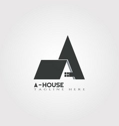 House icon template with a letter home creative vector
