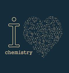 I love chemistry vector