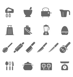 Icon set - kitchenware vector image