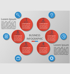infographics 6 options templa vector image