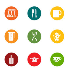 Jefe icons set flat style vector