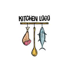 kitchen logo design vector image